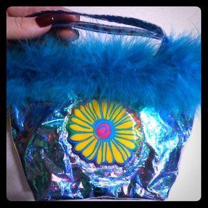 Vintage Lisa Frank Holo mini handbag clutch